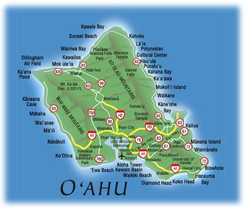 Google Map of oahu